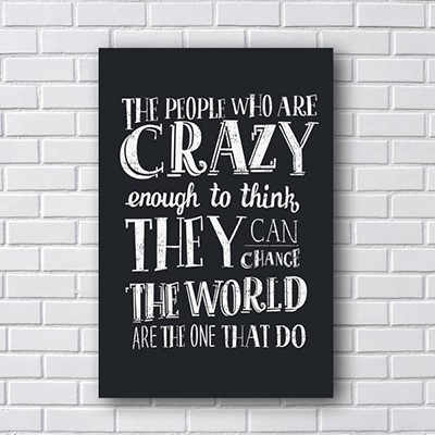 Placa Decorativa de Frases People Crazy