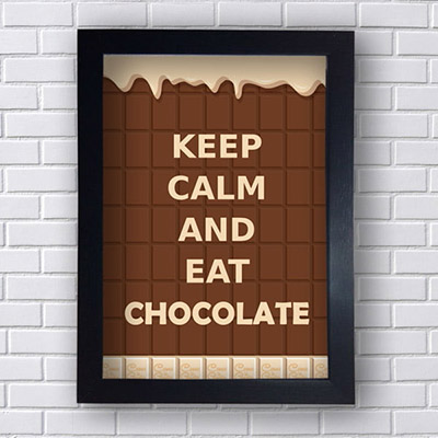 Quadro Decorativo Keep Calm and Eat Chocolate