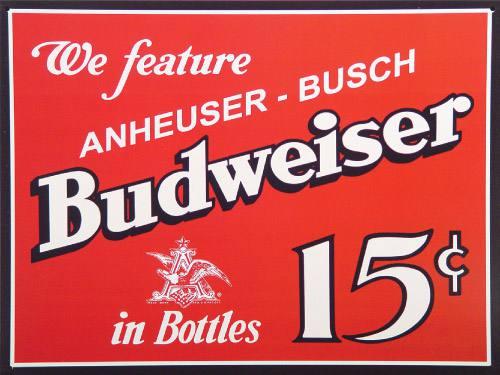 Placa Decorativa Retro Cerveja Budweiser 5c PDV002