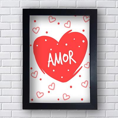 Placa Quadro Decorativo Amor Coração