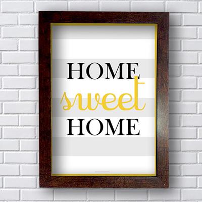 Placa Quadro Decorativo Home Sweet Home