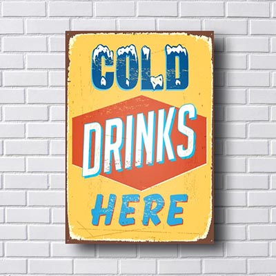 Quadro Decorativo Cold Drinks