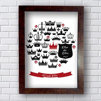 Quadro Decorativo Cristo Rei, Rei dos Reis