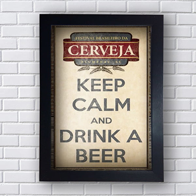 Quadro Decorativo Keep Calm and Drink a Beer