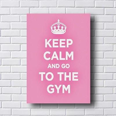 Quadro Decorativo Keep Calm To The Gym