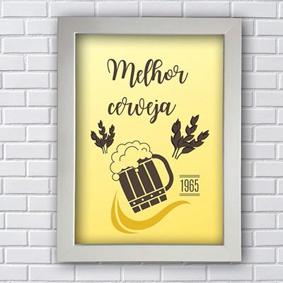 Quadro Decorativo Melhor Cerveja 1965