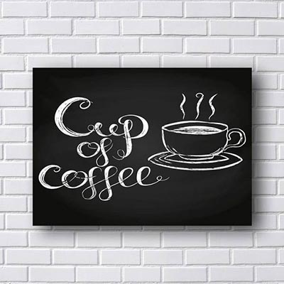 Quadro de Frases Cup of Coffee