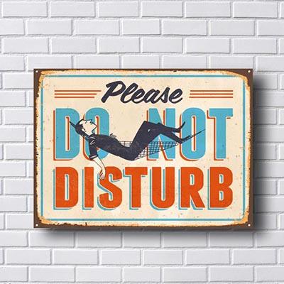 Quadro Decorativo Please Do Not Disturb