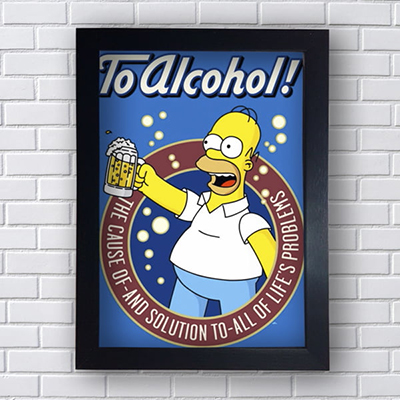 Quadro Placa Decorativa To Alcohol!