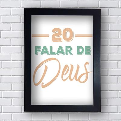 Quadro Placas Decorativas 20 Falar de Deus