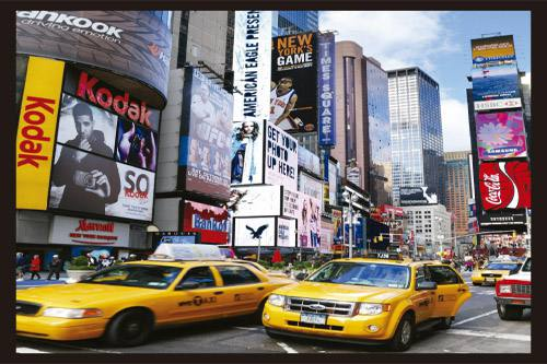 Placa Decorativa Retro Cidade New York PDV063