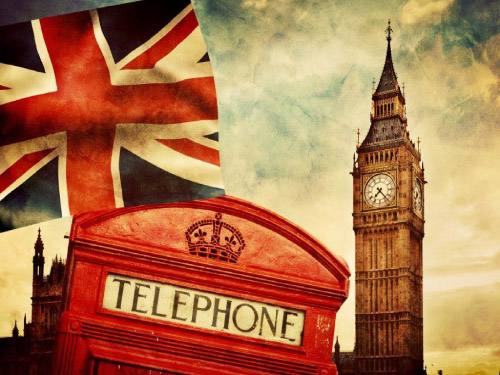 Placa Decorativa Vintage Retro London Telephone PDV133
