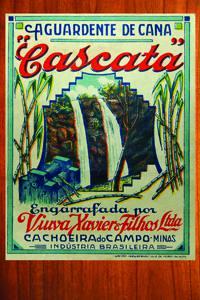 Placas Decorativas Propagandas Antigas Aguardente Cascata PDV440