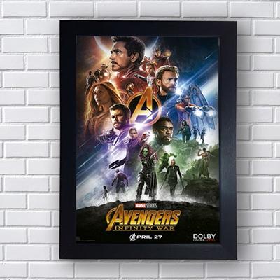 Placa Quadro Decorativo Avengers Infinity War Lançamento