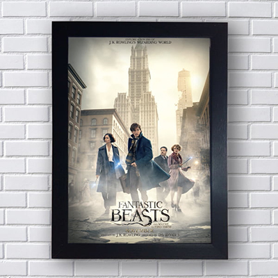 Placa Quadro Decorativo Fantastic Beasts