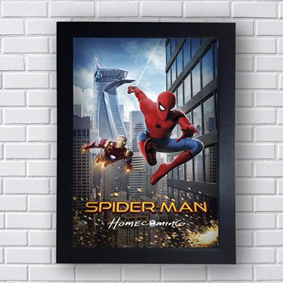 Placa Quadro Decorativo Spider-Man Iron Man Marvel