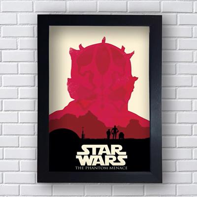Placa Quadro Decorativo Star Wars The Phantom Menace