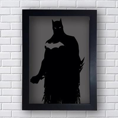 Placa Quadro Decorativo Batman Fundo Cinza