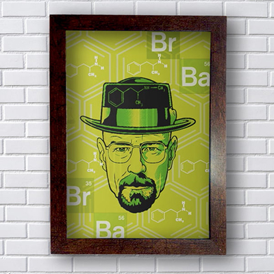 Placa Quadro Decorativo Breaking Bad BR BA