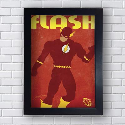 Placa Quadro Decorativo Flash Poster