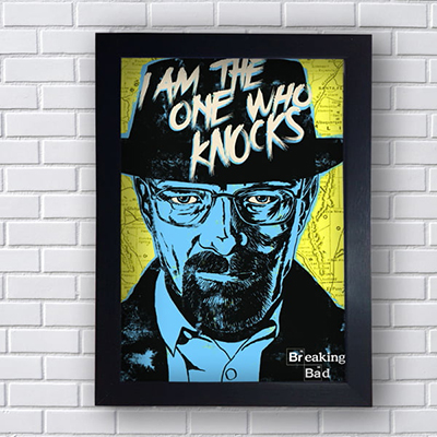 Placa Quadro Decorativo I Am The One Who Knocks