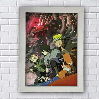 Placa Quadro Decorativo Mangá Naruto