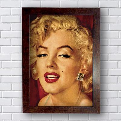 Placa Quadro Decorativo Marilyn Monroe Retrato