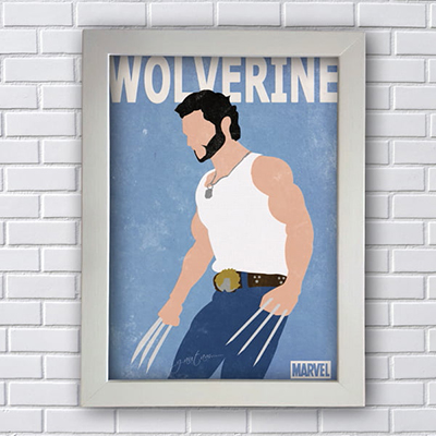 Placa Quadro Decorativo Wolverine