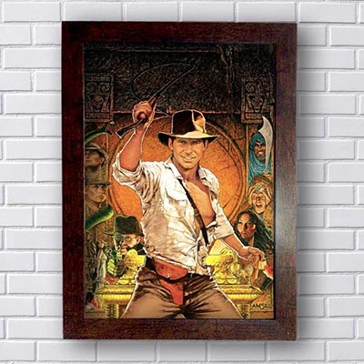 Quadro Decorativo Indiana Jones Retrô