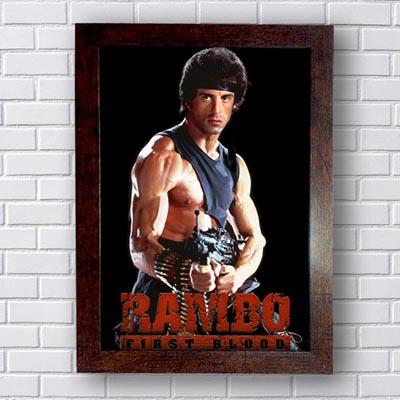 Quadro Decorativo Rambo First Blood