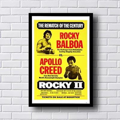 Quadro Decorativo Rocky vs  Apollo