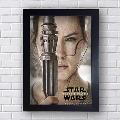 Quadro Decorativo Star Wars Rey