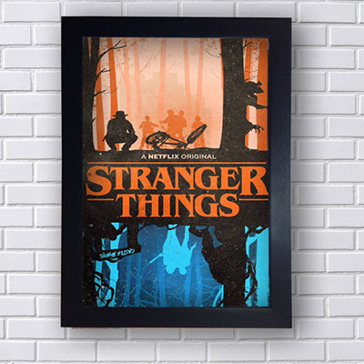 Quadro Decorativo Stranger Things Netflix