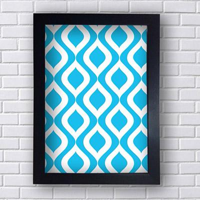 Quadro Decorativo com Linhas Azuis