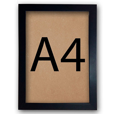 Moldura A4 Para Certificados Diplomas Fotos Com Vidro e Fundo 30x21cm