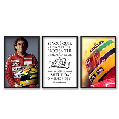 Conjunto De Quadros Decorativos Ayrton Senna