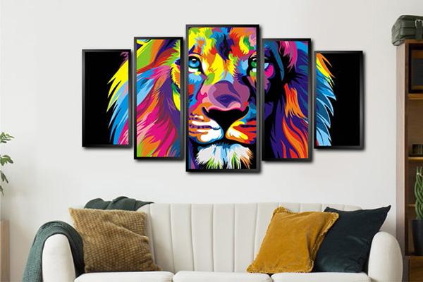 Conjunto Quadro Leão