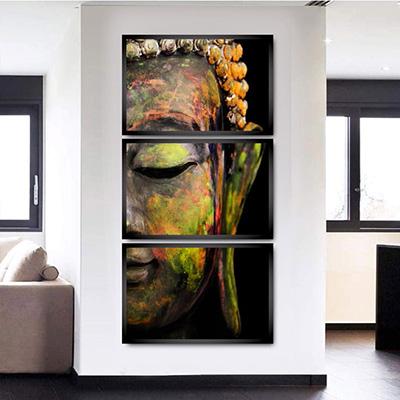 Conjunto Mosaico 3 Quadros Buda
