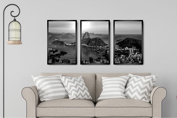 Kit 3 Quadros Rio de Janeiro
