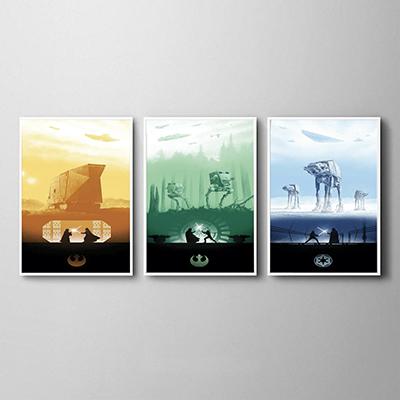 Kit Quadros Decorativos Star Wars
