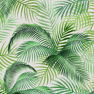 Papel de Parede Floral Verde Folhagens Tropical