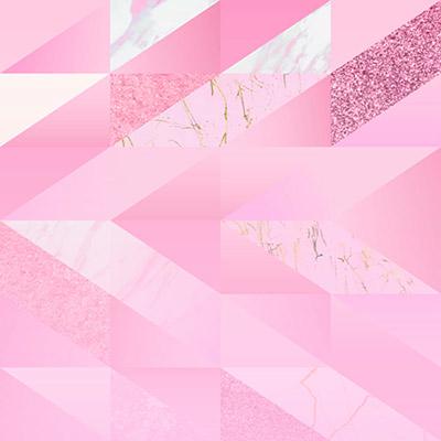 Papel de Parede Geométricos Rosa Glitter Moderno Sala