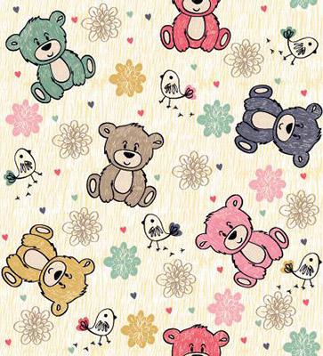 Papel de Parede para quarto de bebe ursinho