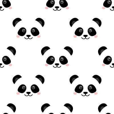 Papel de Parede Urso Panda para quarto infantil