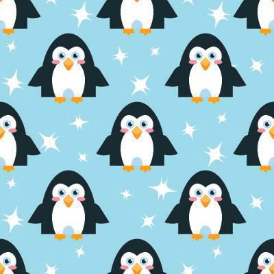 Papel de Parede Pinguim quarto infantil