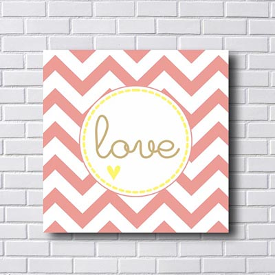 Quadro  Decorativo Love
