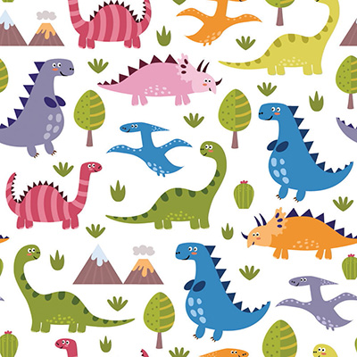 Papel de Parede Dinossauros para quarto menino