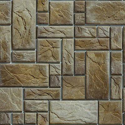 Papel de Parede Azulejo Pedra Retangular Autocolante PD44