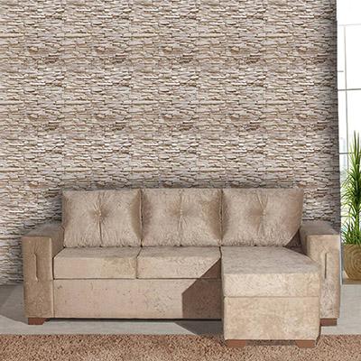 Papel de Parede Pedra Canjiquinha Branca Adesivo Autocolante PD25