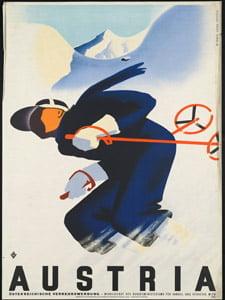 Placa Decorativa Austria Cartão Postal PDV551